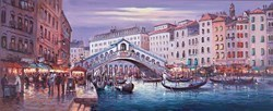 Rialto Bridge by Henderson Cisz -  sized 48x20 inches. Available from Whitewall Galleries